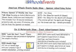 Automotive/Motorcycle Enthusiasts - Advertising