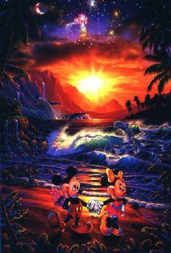 Disney Art Sea Side Romance