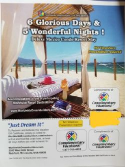 6 Glorious Days, 5 Wonderful Nights! Mexico Condo Resort