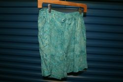 Shorts Hand Batiked Crinkle Rayon in Unique Print. L