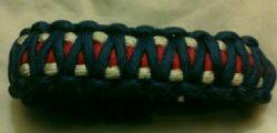 Red white and blue king cobra bracelets